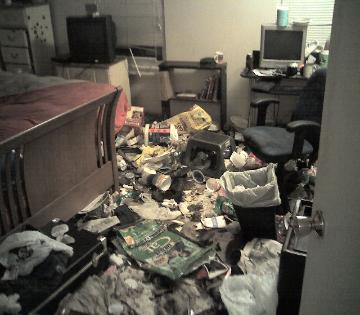 Hoarding / gross filth apartment trash picture 3