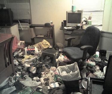 Hoarding / gross filth apartment trash picture 4