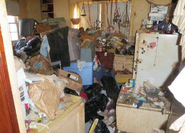 Hoarder kitchen trash