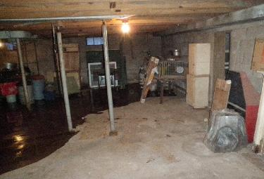 Hoarder basement after cleaning