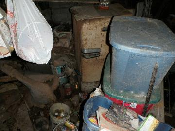 View 2 of hoarder's basement