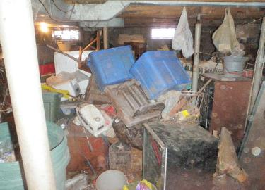Hoarder's basement, view 4