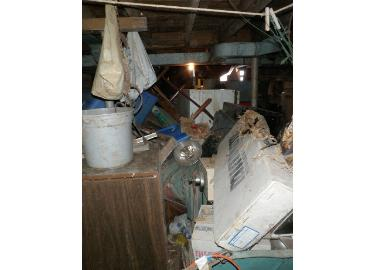 View 3 of hoarder's basement