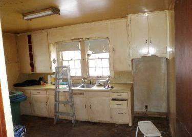 Hoarder house kitchen after cleaning & decontamination